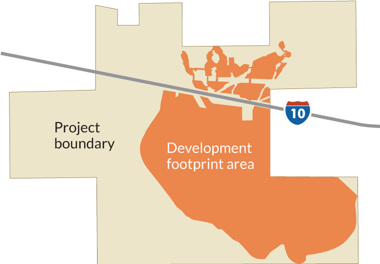 Project boundary and development footprint